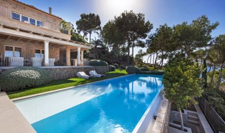 A unique finca situated directly in the bay of Camp de Mar, Palma de Mallorca, Balearic Islands, Spain