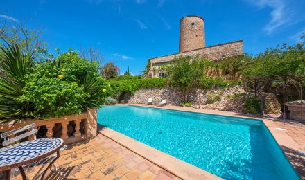 Converted historical mill in Sta. Eugenia, Palma de Mallorca, Balearic Islands, Spain